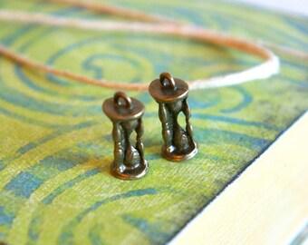 Hourglass Charms- Set of 2  -18-