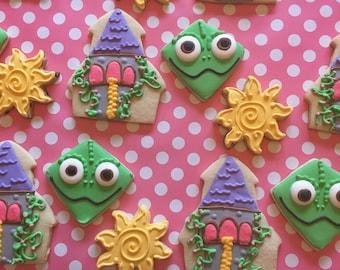Custom Tangled Sugar Cookies