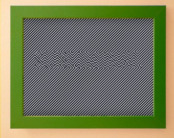 Subliminal Wall Decor 18x24 inches, black and gray lines, instant digital download