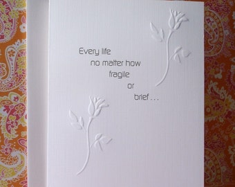 Baby Loss / Miscarriage Sympathy Card F