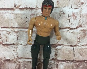 Vintage 1985 Rambo Sylvester Stallone action figure by Anabasis