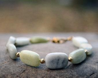 Genuine jade bracelet, Jade bracelet, Light green bracelet, Beaded jade bracelet, Bracelet jade, Jade jewelry, Green jade bracelet.