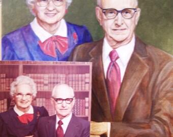 Custom Portrait of 2 People,16x20 acrylic painting