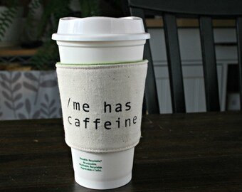 me has caffeine cup cozy