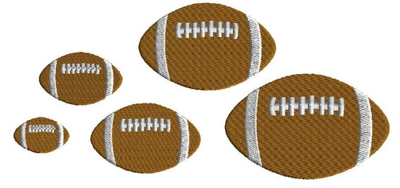 Football Mini Embroidery Design Filled Stitch 5 Sizes Machine