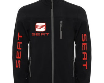 SEAT Stylish Soft Shell Jacket Wind And Water Resistant