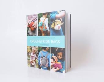 Crochet Kids' Bags book (paperback), crochet book, crochet patterns, kids crochet, crochet bags