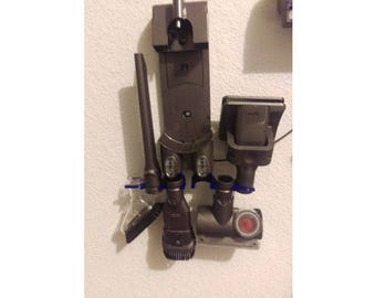Dyson V6 accessory holders for 6 accessories / holds pieces with notched ring