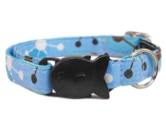 Kitten Collar - Baby Cat Collar - Small Cat Collar - Boy Kitten Collar - Breakaway Cat Collar - Blue Cat Collar - Cat Lover Gift