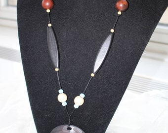 """2986 African Blues 35"""" Adjustable Necklace"""