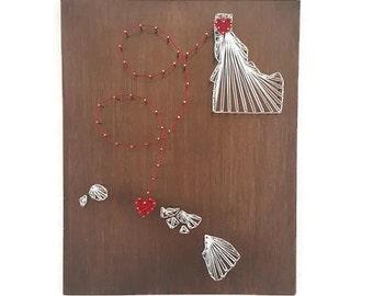 Destination Wedding Gift - Wedding Gift - Destination Wedding - State Shape Gift - Gift for Bride - Wedding Gift Couple - Hawaii Wedding