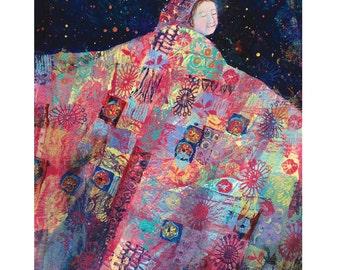 quilt art print - Night Dance