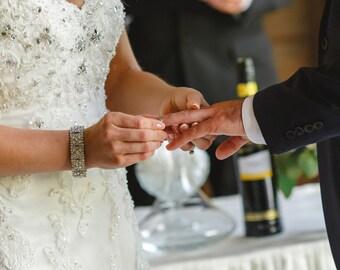 Bridal bracelet, rhinestone wedding bracelet, crystal bracelet, bridal jewelry, bridesmaid bracelet, Jullian Crystal Bracelet