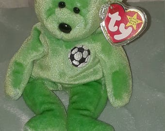 "1998 Ty Beanie Babies"" Kicks"" Bear—Rare with Tag Errors"