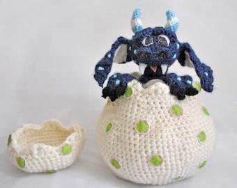 Crochet Pattern - Monster in Egg Amigurumi