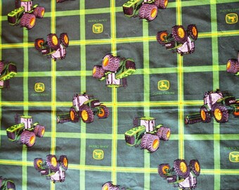 "John Deere Tractor Green Print Cotton Fabric - 54"" x 44"""