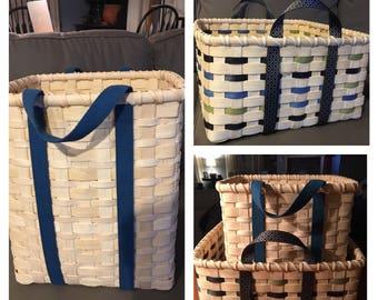 Basket Weaving PATTERN - Utility Basket - Make your Own Basket - Weave your Own Basket