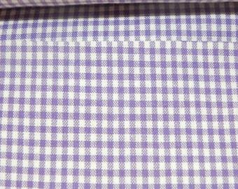Gingham of purple 2 mm cotton cotton fabric