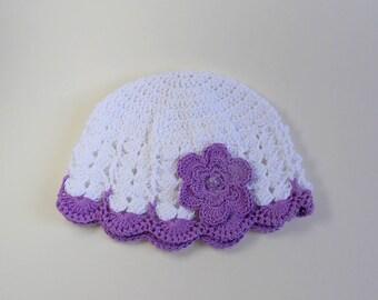 Bonnet d'été en coton pour bébé fille ou poupée reborn