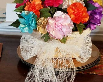 Satin Handmade Flower Bouquet