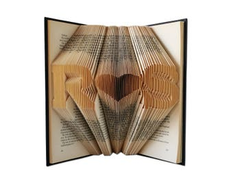 Personalized Wedding Gift, Folded Book Art, 10 year anniversary for her, 5 year anniversary, Anniversary gifts, Paper anniversary, Book Art