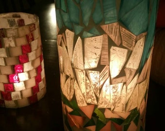 Mosaic Candle Holders