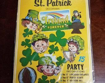 Vintage Bristle St Patrick's Day Decorations NIP