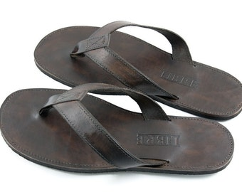 Leather Men's Flip Flops