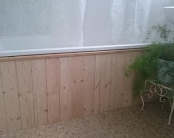 Bathroom Decor - Tongue and Groove Bath Panel