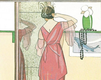 woman. pink. vintage. picture. print. wall art. french. illustration. art. wall decor. art deco. for the bedroom. for the bathroom.