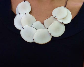multi friendly eco necklace colour fair trade tagua shop accessories