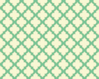 Up Parasol Trellis Turquoise by Heather Bailey for Free Spirit