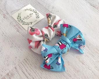 Minnie Tsum Bow | Peppa Pig Bow | Fabric Bows | Baby Bows | Baby Headbands | Toddler Bows | Toddler Headbands | Girls Hair Clips | Photo Pro