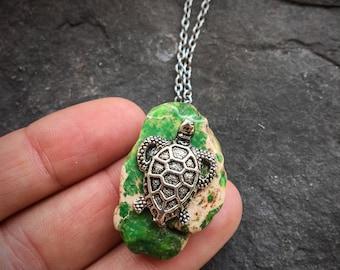 Sea Turtle Necklace, Turtle Necklace, Silver Turtle Necklace, Turtle Jewelry, Turtle Gift, Tortoise Necklace, Sea Turtle Jewelry