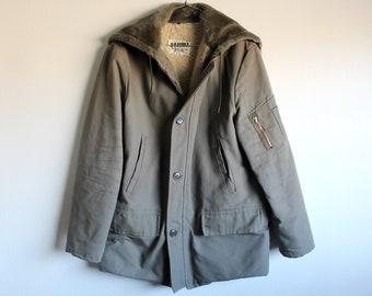 MEDIUM Vintag 60s/70s B-9 Military Parka Jacket