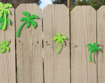 PALM TREE GARLAND--Summer Garland--Birthday--Baby Shower--House Decoration--Classroom, Office Garland