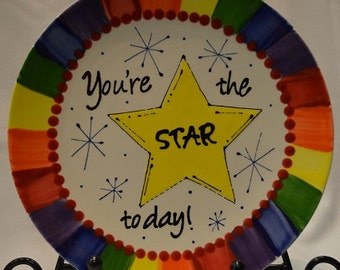 Hand-painted Celebration Plate