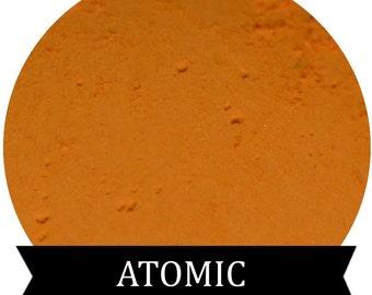 Matte Bright Orange Eyeshadow ATOMIC