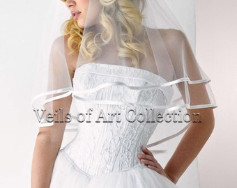 Soft French Tulle Bridal Veil Elbow Veil  Style VE151