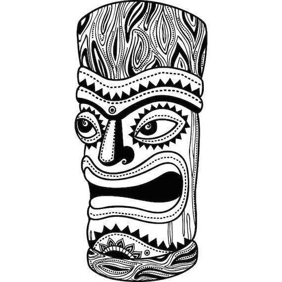 Tiki t tem polynesion hawaiano hab a tallado madera svg for Tiki hawaiano