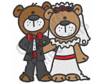 Bride And Groom - Machine Embroidery Design, Wedding