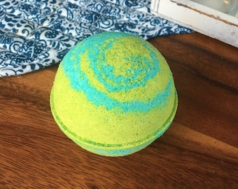 Fizzy Pop Bath Bomb Effervescent Lime Fruity Floral Bomb Natural Handmade Bath Fizzy-