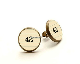 Hitchhikers Guide to the Galaxy Meaning of Life 42 Earrings Hypoallergenic Earrings