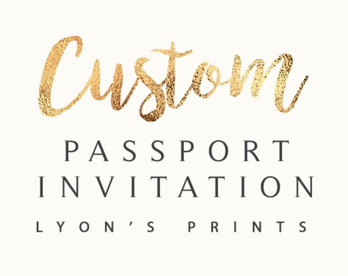 Custom Invitation Design _ Passport and ticket Invitation _ Printable/Digital Invitation_baby shower_birthday party_wedding_ Birthday invite