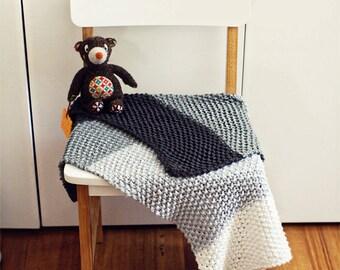 Mombre baby blanket - pdf knitting pattern