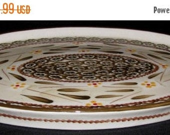 """ON SALE Temp-tations OLD World Brown Ovenware Oval Serving Platter Dinnerware 14 1/4"""" x 9 3/4"""""""
