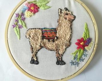 No ProbLlama 4inch Embroidery Hoop