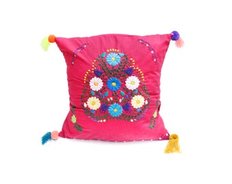 Pink throw pillow cover
