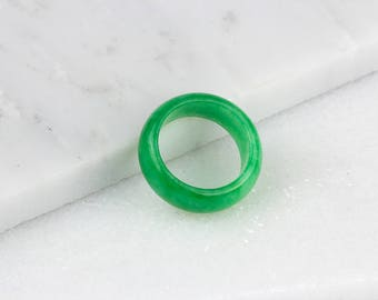 Mens Jade Ring/ Natural Jade Ring/ Green Jade Ring/ Jade Stone Ring/ Mint Green Ring