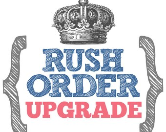 Rush Order Upgrade for Custom Stamps